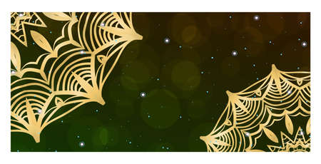Flyers, Banner Template With Mandala Ornament. Vector Design. Ottoman, Arabic, Oriental, Turkish, Indian,Motif Illustration