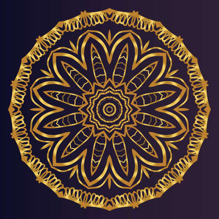 Ornamental circle pattern. Hand draw Mandala. Vintage decorative elements. vector illustration. Anti-stress therapy pattern