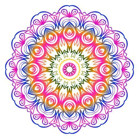 Formes décoratives modernes de Cicle. Mandala floral. illustration vectorielle.