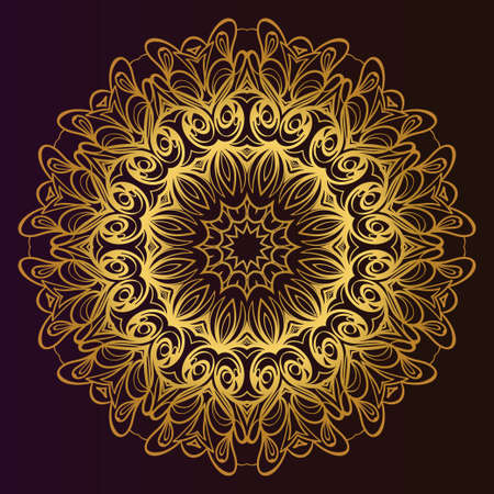 Mandala. for design, greeting card, invitation, coloring book. Arabic, Indian, motifs. Vector illustration.