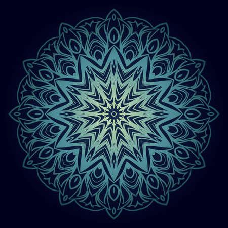 Modern Decorative Cicle Shapes. Floral mandala. vector illustration. Ilustrace