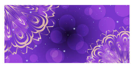 Design Template Invitations, Flyers for a Yoga Studio with Floral Mandala Pattern. Vector Stok Fotoğraf - 127726398