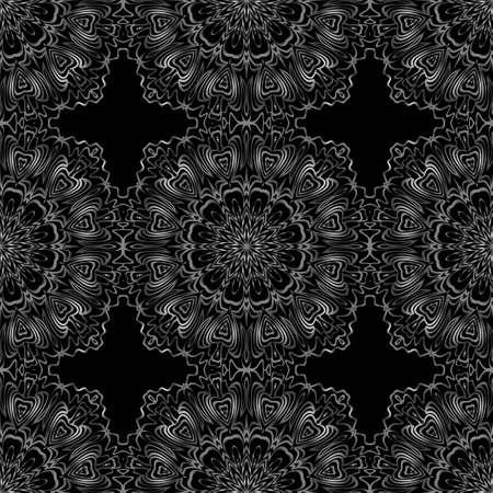 Unique, abstract floral color pattern. Seamless vector illustration. For fantastic design, wallpaper, background, fantastic print Çizim