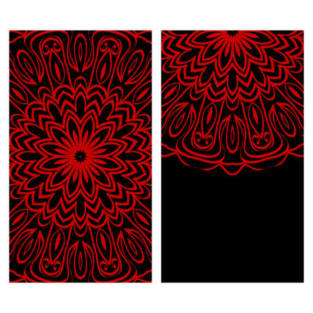 Collection card with relax mandala design. For mobile website, posters, online shopping, promotional material