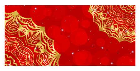 Holiday Flyer With Floral Mandala Ornaments. Vector Oriental design. Islam, Arabic, Indian, Ottoman Motifs