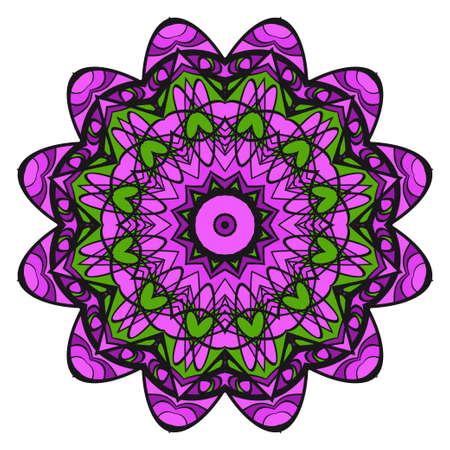 Mandala Style Vector Shapes. Decorative Cicle ornament. Floral design.