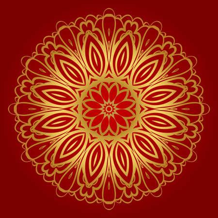 Flower coloring Mandala. decorative elements. Oriental pattern, vector illustration. Indian, moroccan, mystic, ottoman motifs.