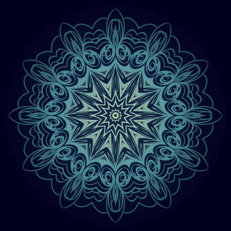 Mandala Style Vector Shapes. Decorative Cicle ornament. Floral design Stok Fotoğraf - 127726441