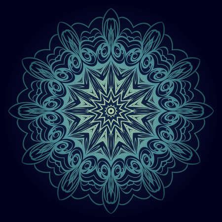 Mandala Style Vector Shapes. Decorative Cicle ornament. Floral design Ilustrace