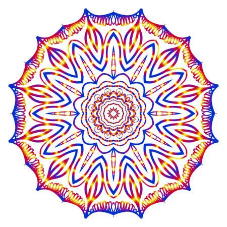Round pattern flower mandala. circle floral ornament. Legend decorative vector illustration. Çizim