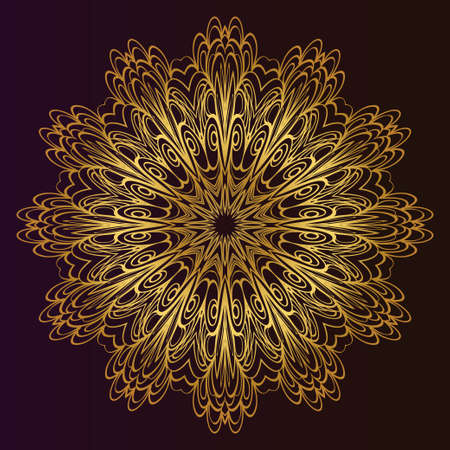 Mandala Style Vector Shapes. Decorative Cicle ornament. Floral design Stok Fotoğraf - 127726449