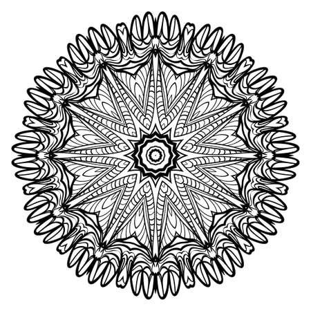 Mandala Style Vector Shapes. Decorative Cicle ornament. Floral design Çizim
