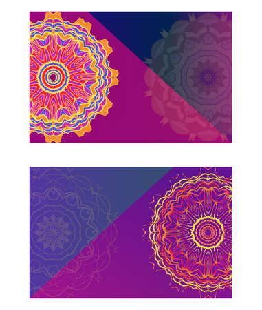 Collection card with relax mandala design. For mobile website, posters, online shopping, promotional material Stok Fotoğraf - 127726456