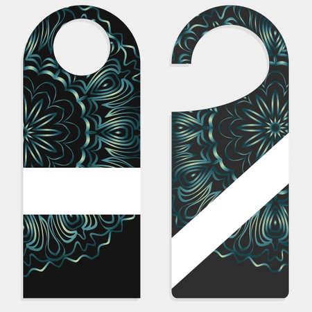 Door knob or hanger sign with floral mandala design.