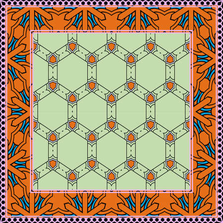 Design of a Geometric Pattern. vector. Repeating sample figure and line. For fashion interiors design, wallpaper, textile industry. Stok Fotoğraf - 127726463