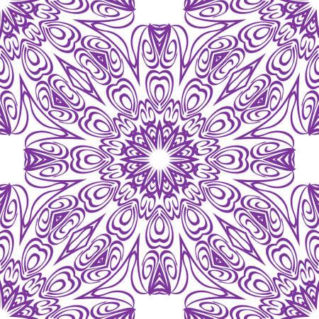 Design of a Geometric Flower seamless Pattern. vector. for wallpaper, flyer, book, brochure