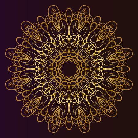 Modern Decorative Cicle Shapes. Floral mandala. vector illustration. Çizim