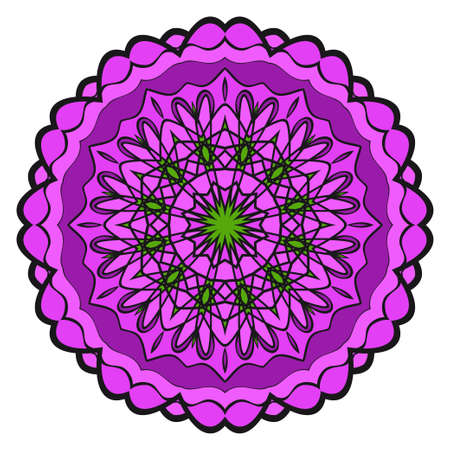 Modern Decorative floral color mandala. Super vector round Shapes. Vector illustration Çizim