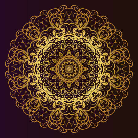 Modern floral vector ornaments. Decorative flower mandala. vector illustration Çizim