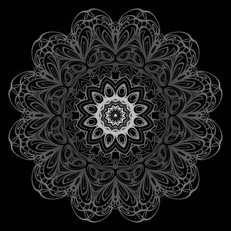 Modern Decorative Cicle Shapes. Floral mandala. vector illustration. Çizim