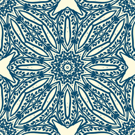 Design of a Geometric Flower seamless Pattern. vector. for wallpaper, flyer, book, brochure