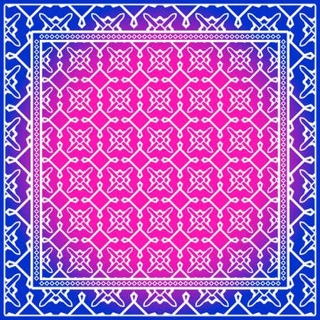 Diseño de Bufanda con Patrón Geométrico. para Estampado de Bufanda, Tela, Fundas, Scrapbooking, Bandana, Pareo, Chal. Ilustración vectorial