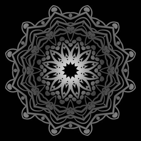 Modern Decorative floral color mandala. Super vector round Shapes. Vector illustration Çizim