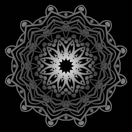 Modern Decorative floral color mandala. Super vector round Shapes. Vector illustration Ilustrace