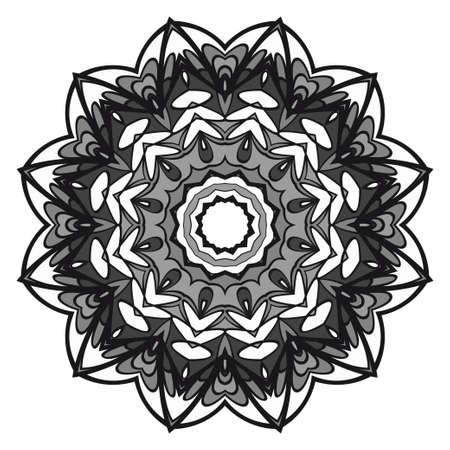 Round pattern flower mandala. circle floral ornament. Decorative illustration.