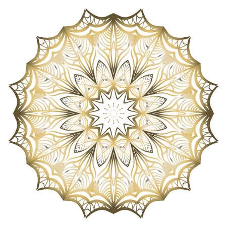 Vector Floral mandala. Vintage decorative elements. Vector illustration