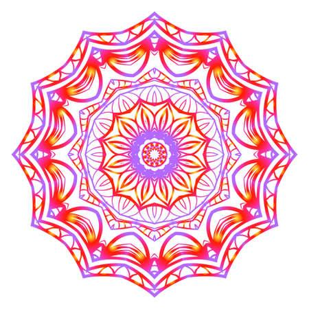 Vintage Invitation card with Mandala pattern. decorative elements. vector illustration. Anti-stress therapy pattern