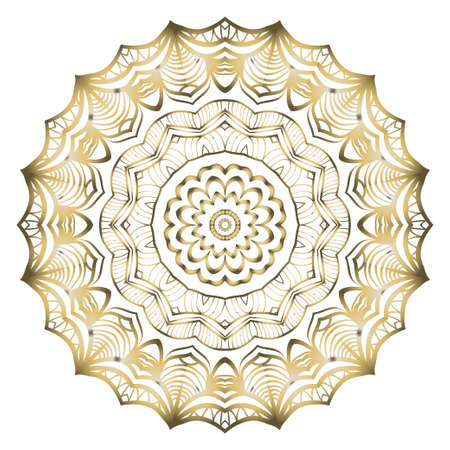 Vintage Invitation card with Mandala pattern. decorative elements. vector illustration. Anti-stress therapy pattern