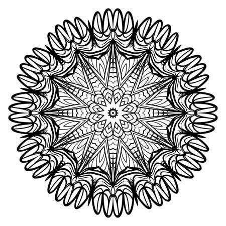 Vector Floral mandala. Vintage decorative elements. Vector illustration