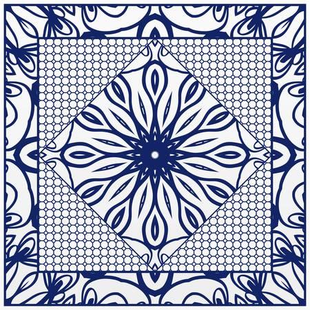 imprimé bandana avec motif floral. illustration vectorielle. Pour tissu, textile, bandana, foulard, imprimé Vecteurs