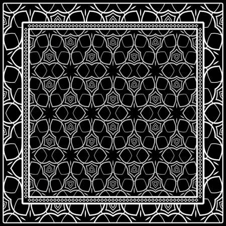 Template Print For Fabric  Pattern Of Geometric Ornament