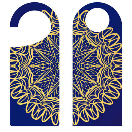 Label with special mandala design. Vector illustration. For hotel, sale. price tag