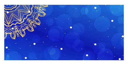 Colorful Design with Floral Mandala Background. Vector Design. Ottoman, Arabic, Oriental, Turkish, Indian,Motif. Template for Flyer or Invitation Card Design Vector Illustratie