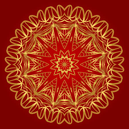Vector with Mandala pattern. Repeating sample figure and line. Modern Decorative floral color mandala Illustration