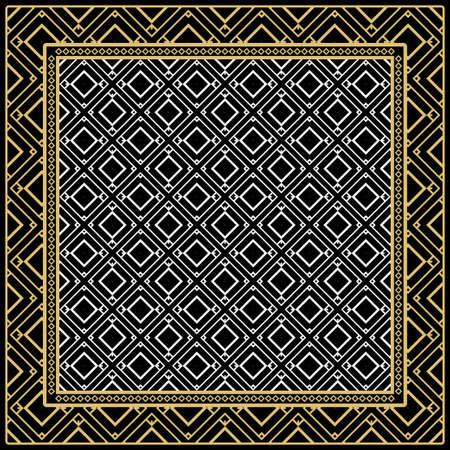 Fashion design Print with geometric pattern. Vector illustration. For modern interior design, fashion textile print, wallpaper