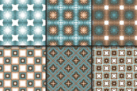 Set of Geometric Pattern with Modern Line Design . Seamless Vector Background. For Scrapbooking Design, Printing, Wallpaper, Decor, Fabric, Invitation