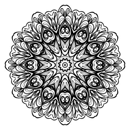 Modern Decorative floral color mandala. round Shapes. illustration