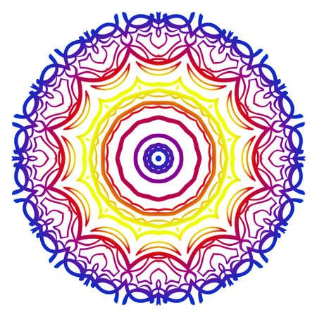 Oriental mandala. Vintage decorative elements. Vector illustration. It is super brilliant vector illustration.
