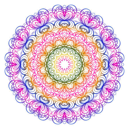 Modern Decorative floral color mandala. Modern Decorative floral color mandala. Vector illustration
