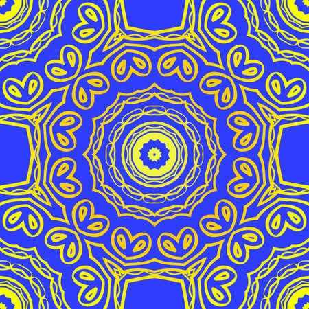 Design for square fashion print. For pocket, shawl, textile, bandanna. Seamless floral pattern. Vector illustration