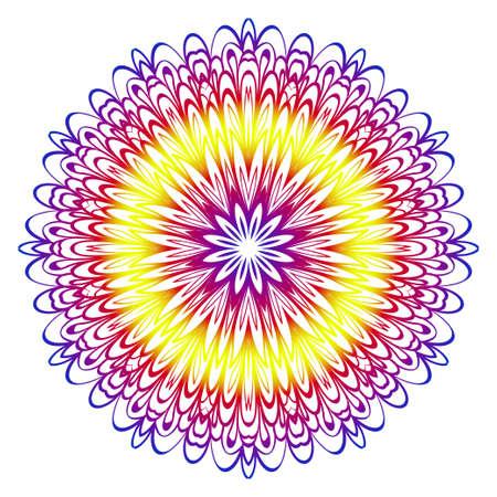 Modern Decorative floral color mandala. Modern Decorative floral color mandala. Vector illustration