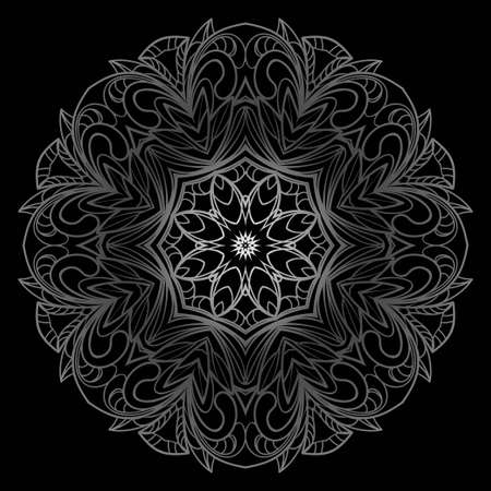 Ethnic ornamental mandala. Decorative design element. Vector illustration Ilustração Vetorial