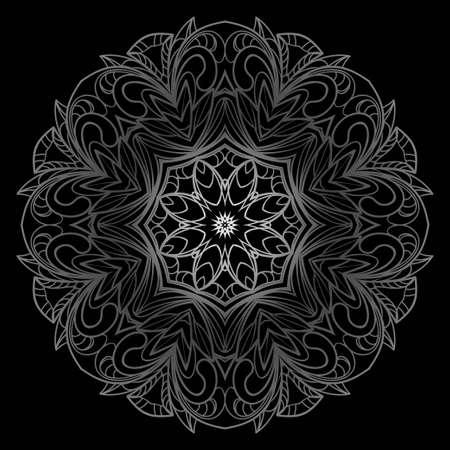 Mandala ornemental ethnique. Élément de design décoratif. Illustration vectorielle Vecteurs