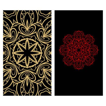 Ethnic Decorative Flyers with Floral Mandala. Templates Vector illustration Illustration