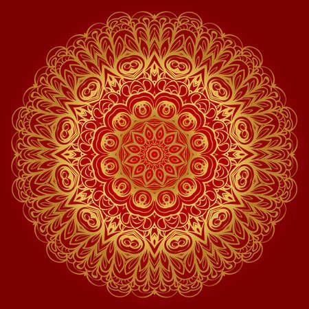 Modern Decorative Cicle Shapes. Floral mandala. vector illustration.