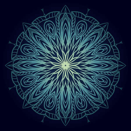 Floral color mandala. Arabic, Indian, motifs. Vector illustration Illusztráció